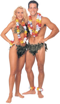 Hawaiin Adam and Eve Halloween costume